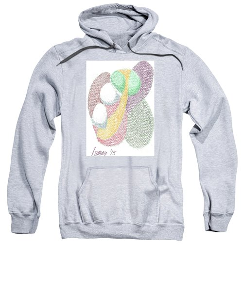Sweatshirt featuring the drawing Card 6 by Rod Ismay