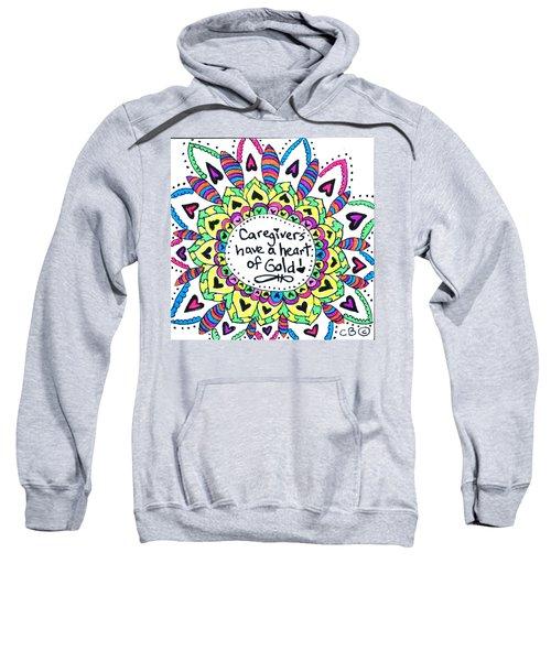 Caregiver Flower Sweatshirt