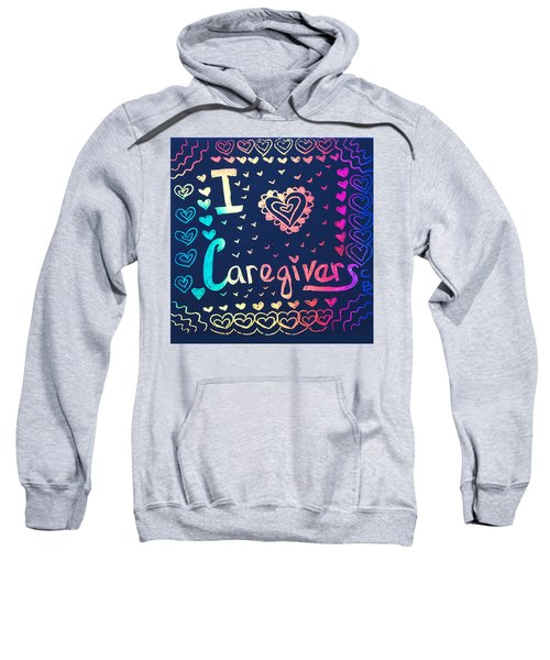Caregiver Rainbow Sweatshirt