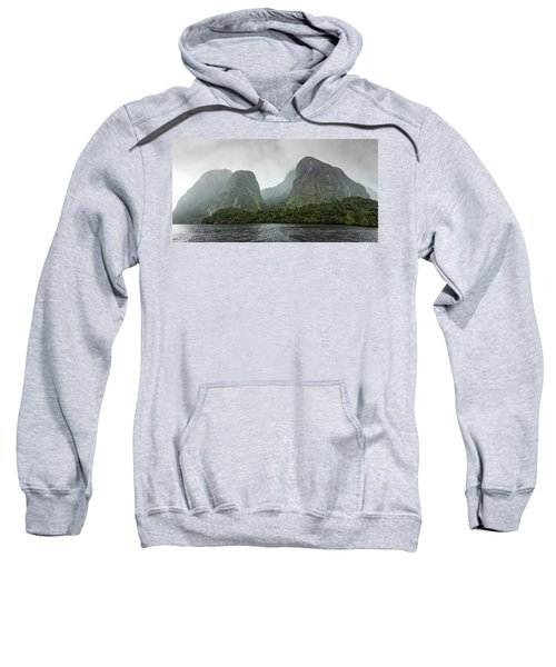 Sweatshirt featuring the photograph Carved By Glaciers by Chris Cousins