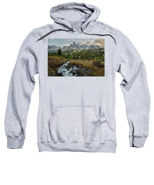 Cascade In The Alps Sweatshirt