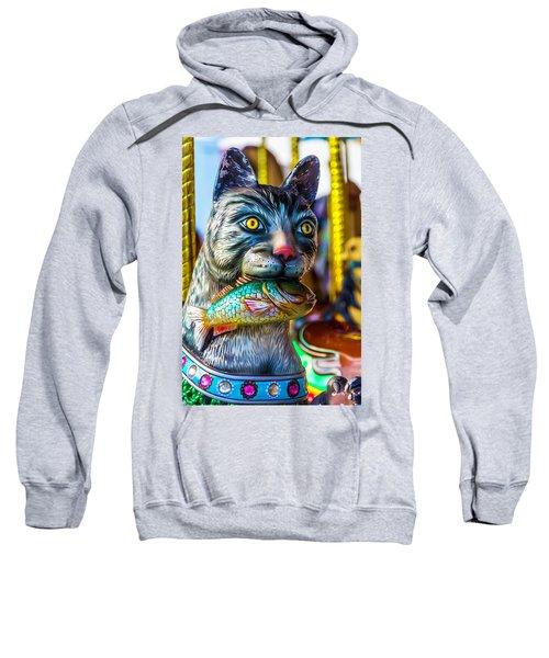 Cat Carrousel With Fish Sweatshirt