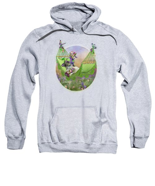 Cat In Calla Lily Hat Sweatshirt