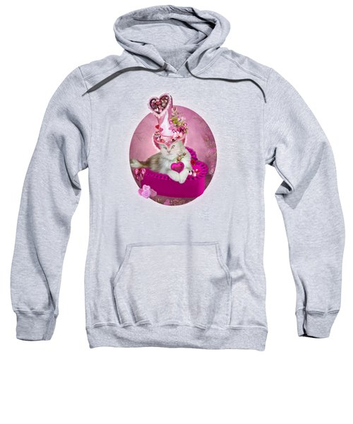 Cat In Valentine Candy Hat Sweatshirt