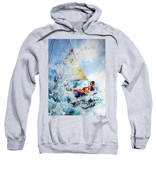 Sweatshirt featuring the painting Catch The Wind by Hanne Lore Koehler