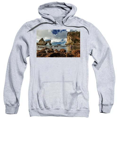 catching fish in Atuh beach Sweatshirt