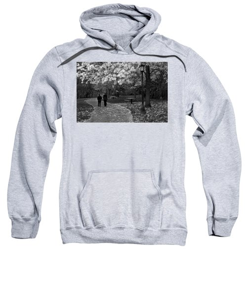 Cathedral Park In Fall Bw Sweatshirt