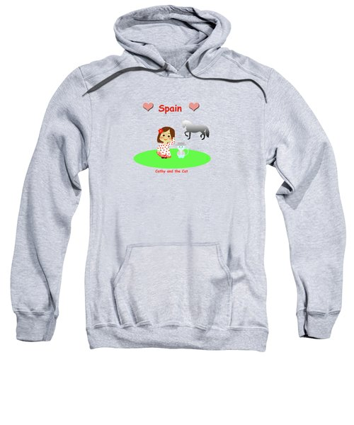 Cathy And The Cat In Spain Sweatshirt