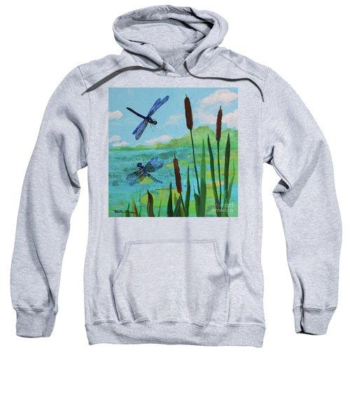 Cattails And Dragonflies Sweatshirt