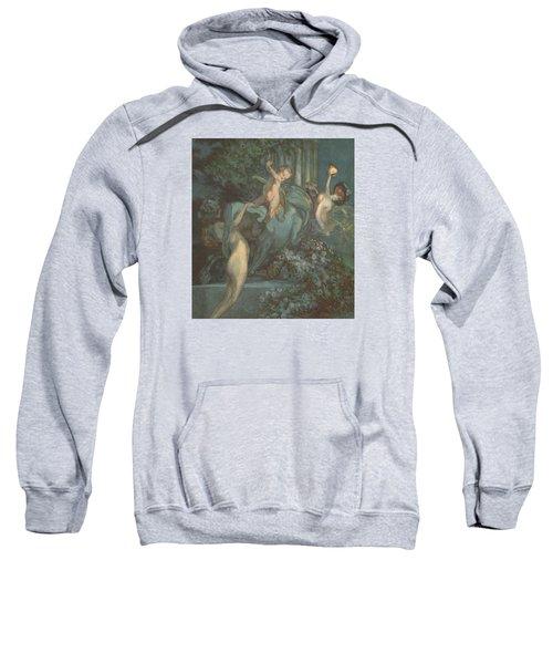 Centaur Nymphs And Cupid Sweatshirt by Franz von Bayros
