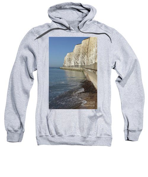 Chalk Cliffs At Peacehaven East Sussex England Uk Sweatshirt