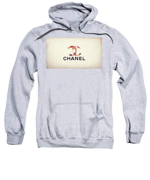 Sweatshirt featuring the mixed media Chanel Floral Texture  by Dan Sproul