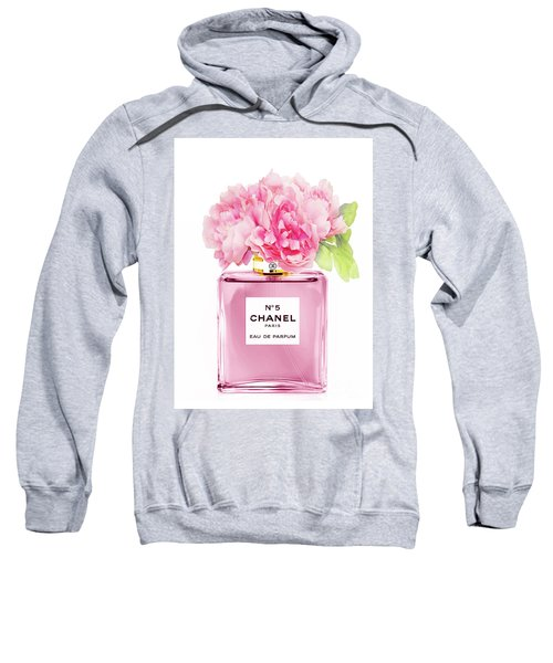 Chanel N5 Pink With Flowers Sweatshirt