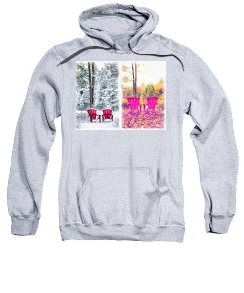 Changing Seasons Anderson Pond Eastman Grantham New Hampshire Sweatshirt