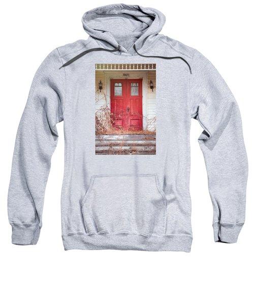 Charming Old Red Doors Portrait Sweatshirt