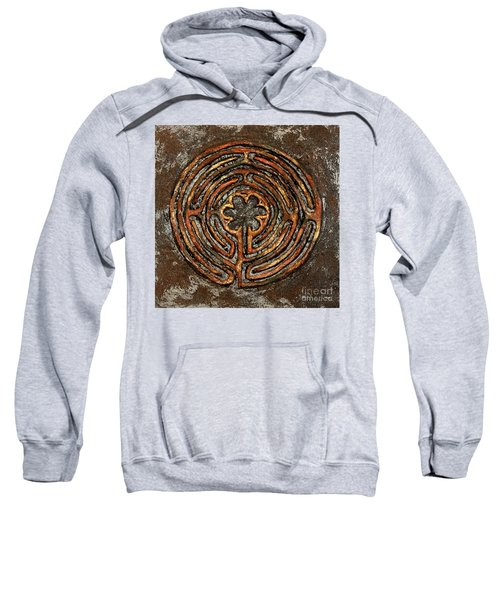 Chartres Style Labyrinth Earth Tones Sweatshirt