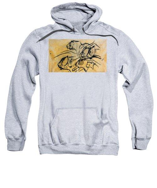 chauvet cave lions Clear Sweatshirt