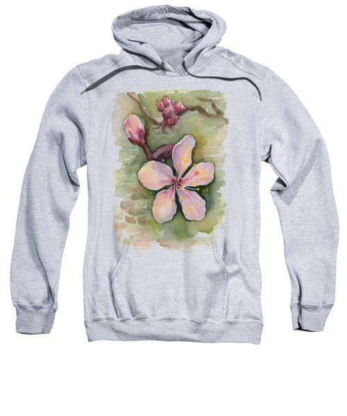 Cherry Blossom Watercolor Sweatshirt