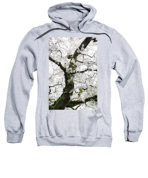 Sweatshirt featuring the photograph Cherry Blossoms 119 by Peter Simmons
