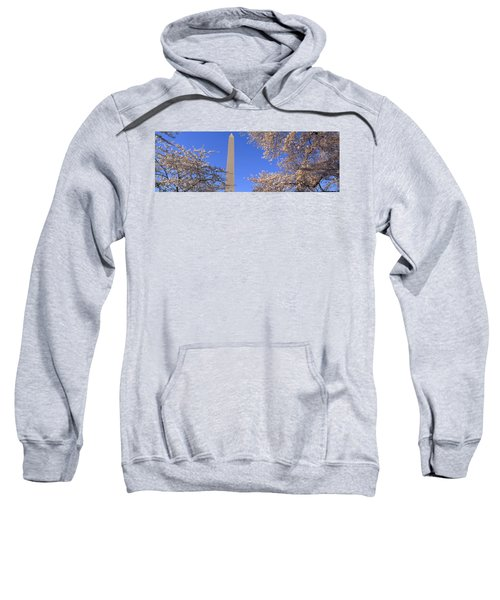 Cherry Blossoms And Washington Sweatshirt by Panoramic Images