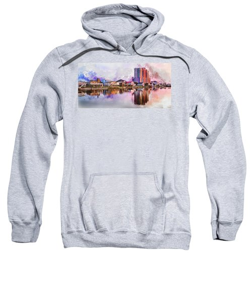 Cherry Grove Skyline - Digital Watercolor Sweatshirt