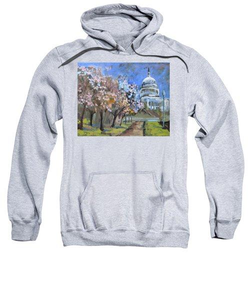 Cherry Tree Blossoms In Washington Dc Sweatshirt