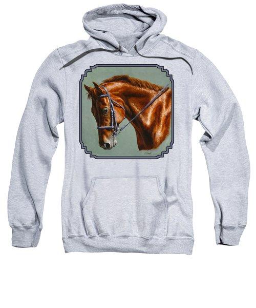 Chestnut Dressage Horse Phone Case Sweatshirt