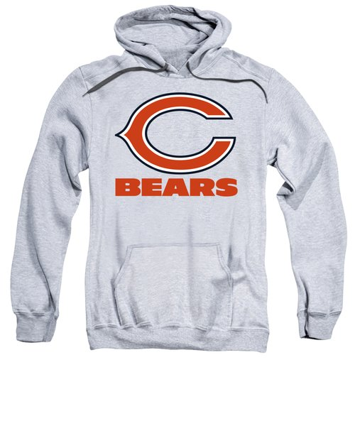 Chicago Bears On An Abraded Steel Texture Sweatshirt