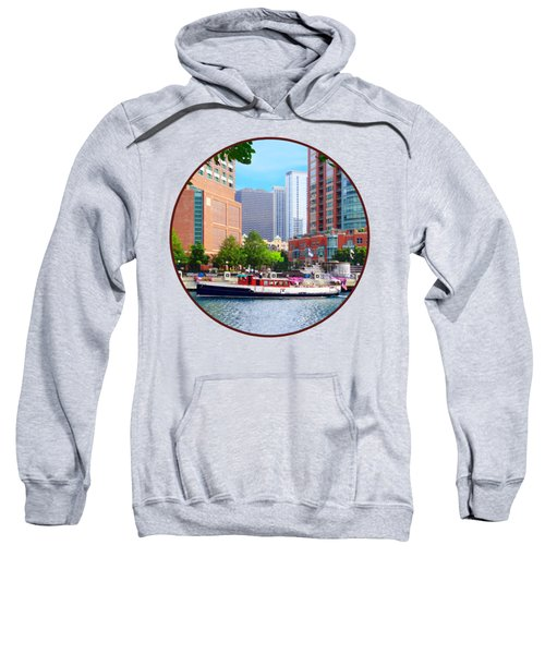 Chicago Il - Chicago River Near Centennial Fountain Sweatshirt by Susan Savad