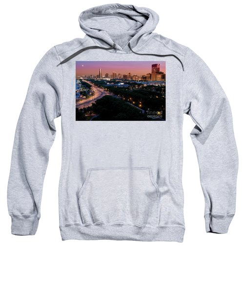 Chicago Independence Day At Night Sweatshirt