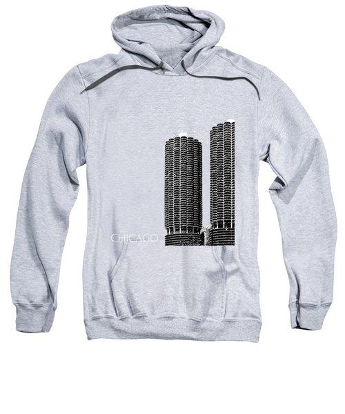 Chicago Skyline Marina Towers - Teal Sweatshirt