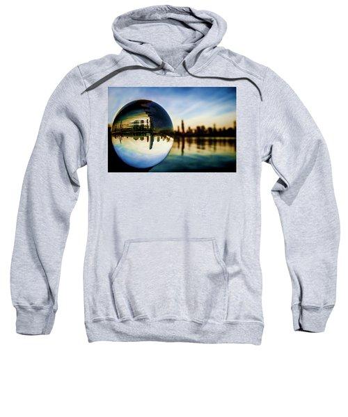 Chicago Skyline Though A Glass Ball Sweatshirt