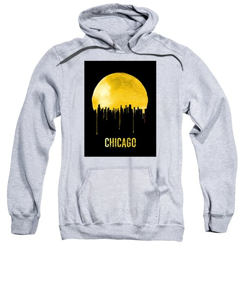 Chicago Skyline Yellow Sweatshirt by Naxart Studio