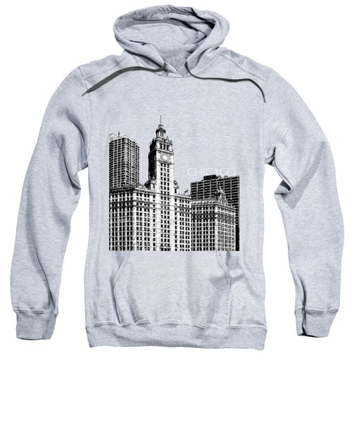 Chicago Wrigley Building - Salmon Sweatshirt