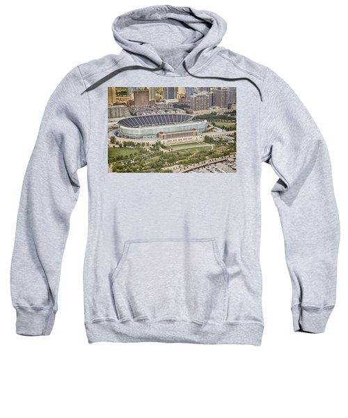 Chicago's Soldier Field Aerial Sweatshirt by Adam Romanowicz