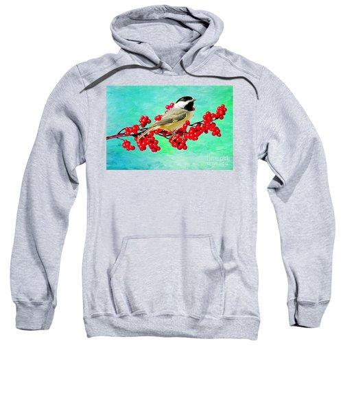 Chickadee And Winterberry Sweatshirt