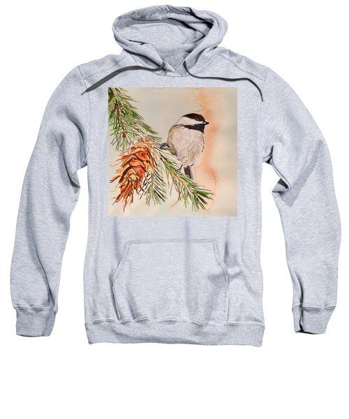 Chickadee In The Pine Sweatshirt
