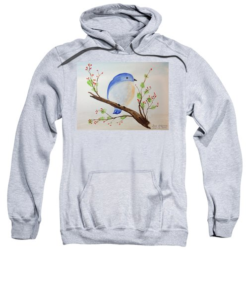 Chickadee On A Branch With Leaves Sweatshirt