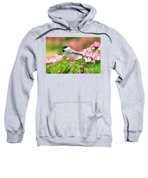 Chickadee On Dogwood Sweatshirt