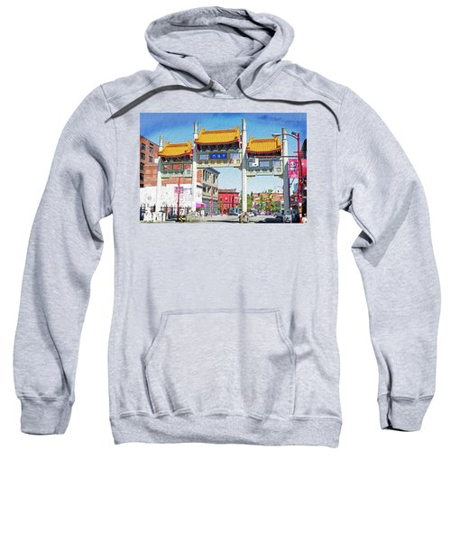 Chinatown's Millenium Gate Digital Wc Sweatshirt