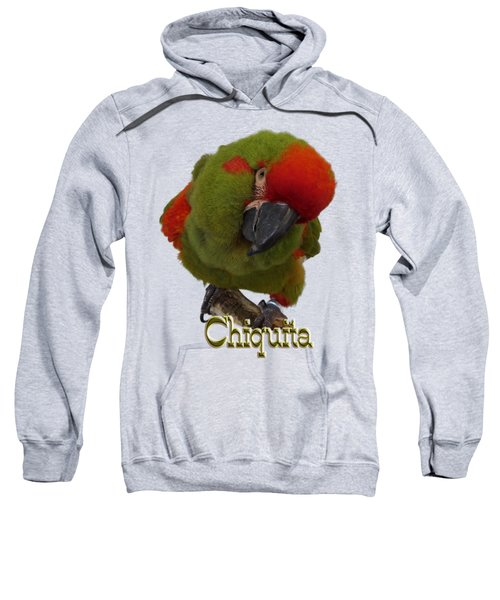 Chiquita, A Red-front Macaw Sweatshirt by Zazu's House Parrot Sanctuary