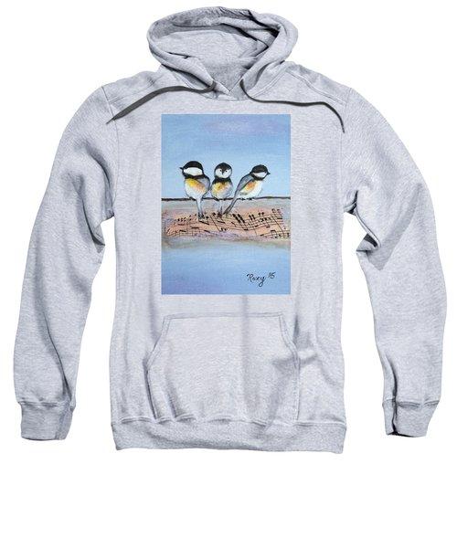 Chirpy Chickadees Sweatshirt by Roxy Rich