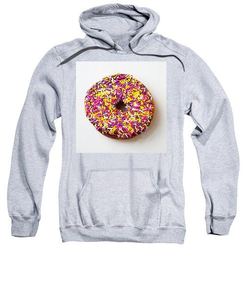 Cholocate Donut With Sprinkles Sweatshirt