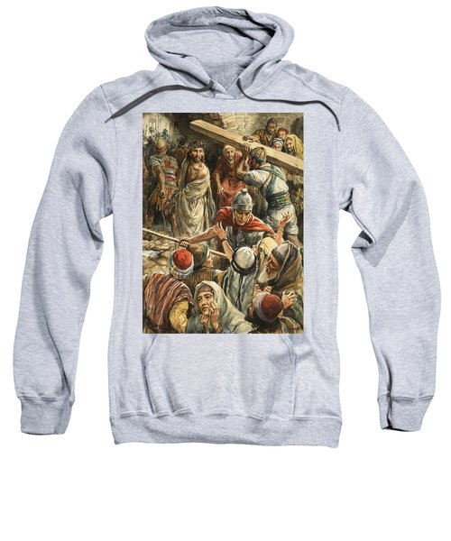 Christ On The Way To His Crucifixion Sweatshirt