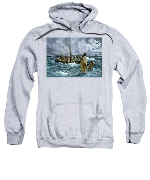 Christ Walking On The Sea Of Galilee Sweatshirt