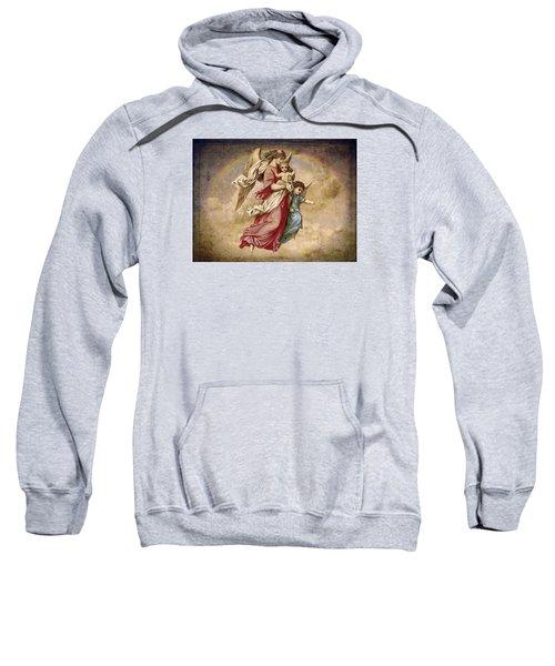 Christmas Angels And Baby Sweatshirt by Bellesouth Studio