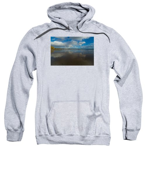 Sweatshirt featuring the photograph Christmas Eve Early Gifts by Lora Lee Chapman
