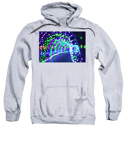Christmas Lights Decoration Blurred Defocused Bokeh Sweatshirt