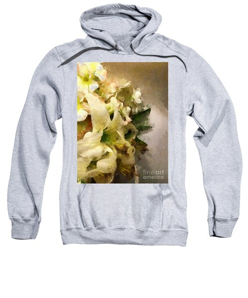 Christmas White Flowers Sweatshirt