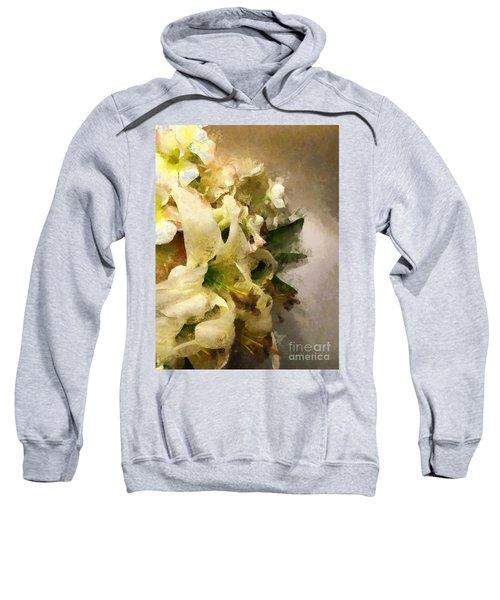 Christmas White Flowers Sweatshirt
